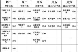 必备的男士初级健身计划表